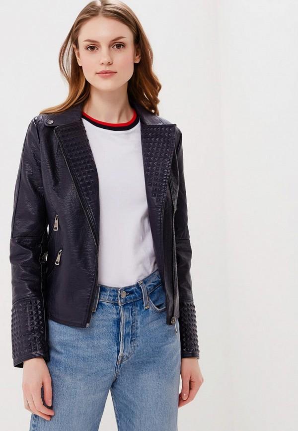 Купить Куртка кожаная Fresh Cotton, FR043EWBDGN2, синий, Весна-лето 2018
