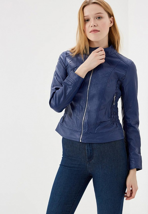 Купить Куртка кожаная Fronthi, FR050EWAPCS9, синий, Весна-лето 2018