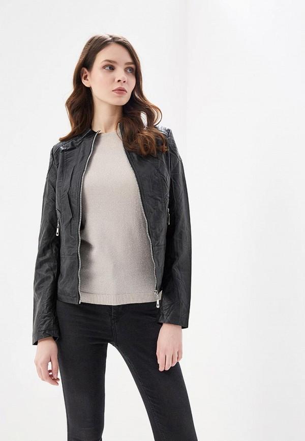 Куртка кожаная Fronthi цвет черный сезон весна, демисезон, лето страна Китай размер 42, 44, 46, 48, 50, 52