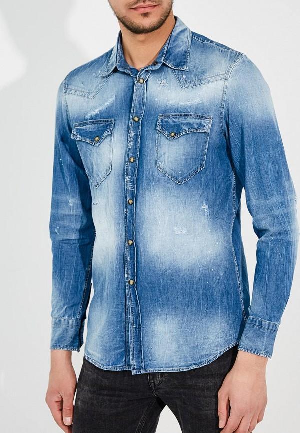 Рубашка джинсовая Frankie Morello цвет синий сезон весна, лето, мульти страна Италия размер 48, 50, 52, 54, 56