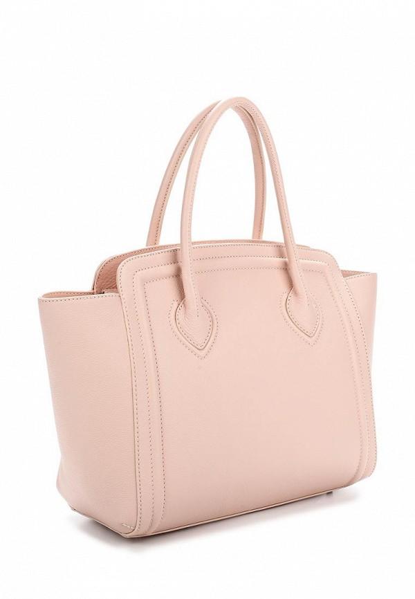 Сумка шопер цвета розовый беж Yanko Интернет-магазин