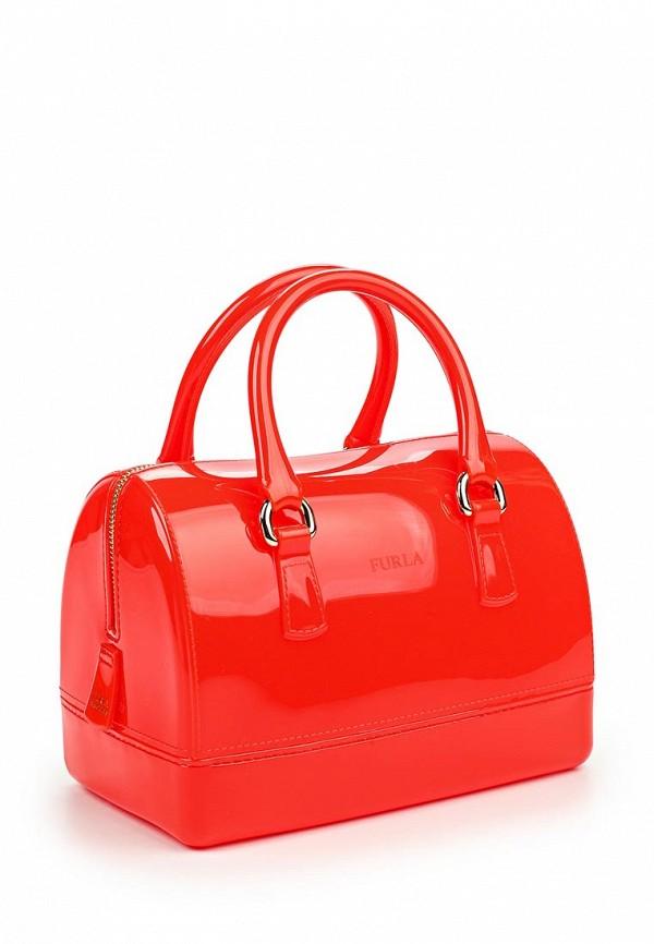 Женская сумка Furla Divide it красная лаковая купить в