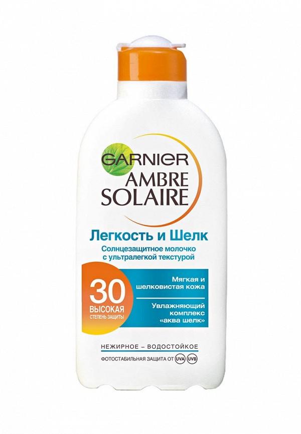 Молочко для тела Garnier Ambre Solaire. Легкость и шелк, солнцезащитное SPF 30 200 мл