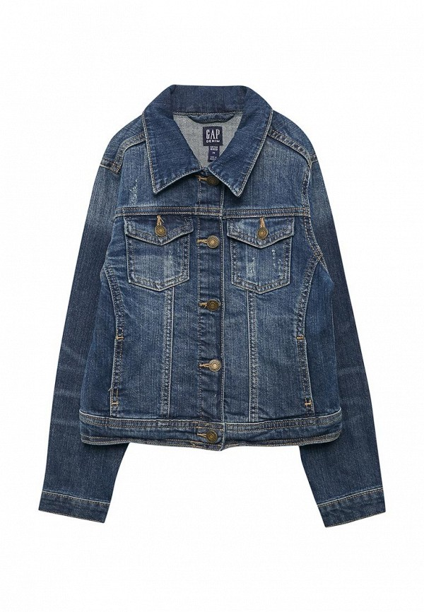 Купить Куртка джинсовая Gap, GA020EGAHDC3, синий, Весна-лето 2018