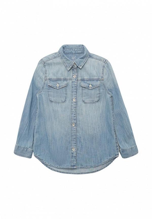 Купить Рубашка джинсовая Gap, GA020EGAHPG8, голубой, Весна-лето 2018