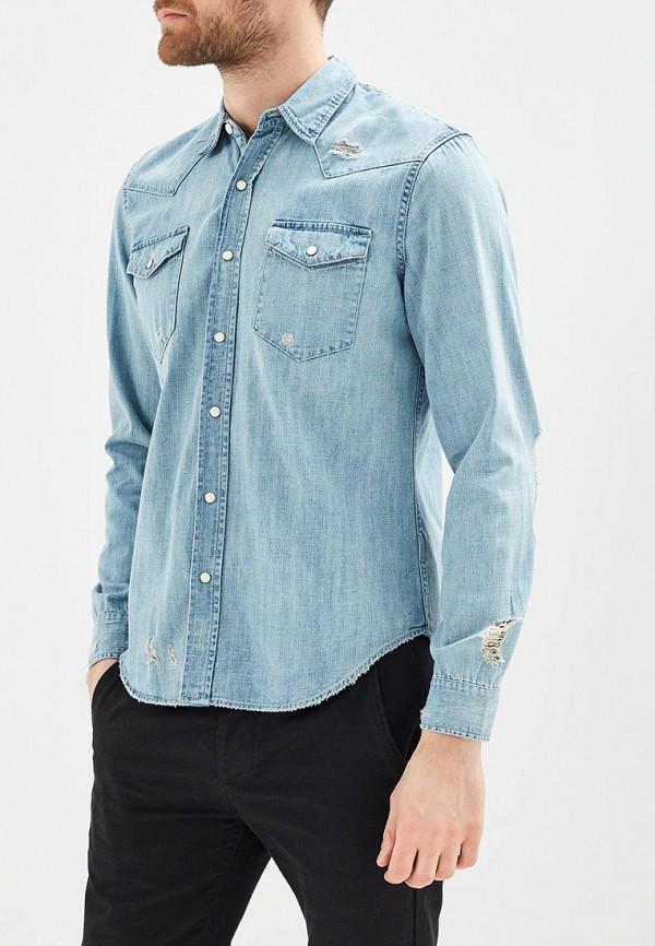 Купить Рубашка джинсовая Gap, GA020EMAGVN0, голубой, Весна-лето 2018