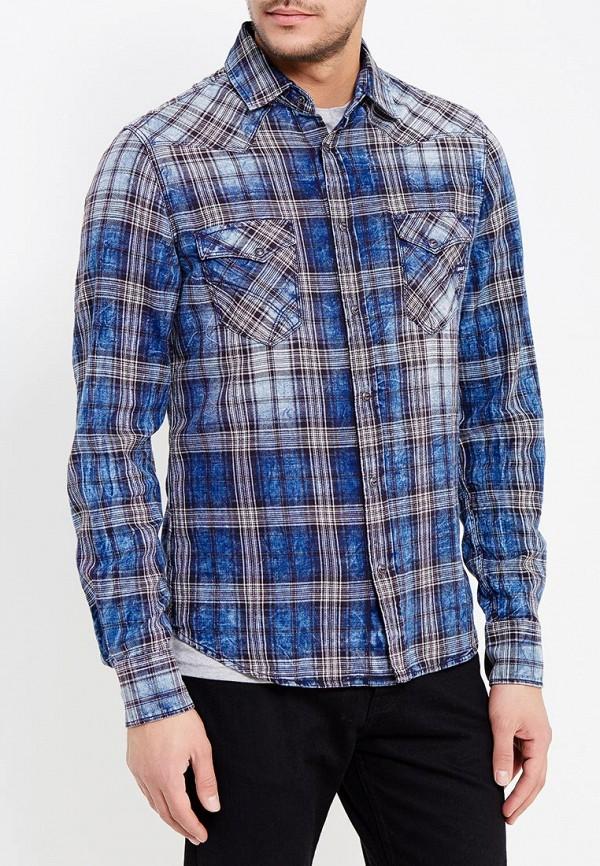 Купить мужскую рубашку Gas синего цвета
