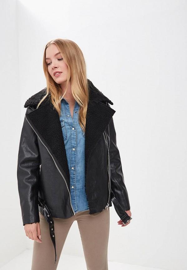 Купить Куртка кожаная Glamorous, GL008EWFXT04, черный, Весна-лето 2018