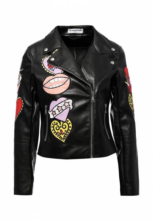 Куртка кожаная Glamorous Glamorous GL008EWQPJ85 майка glamorous glamorous gl008ewqpk25