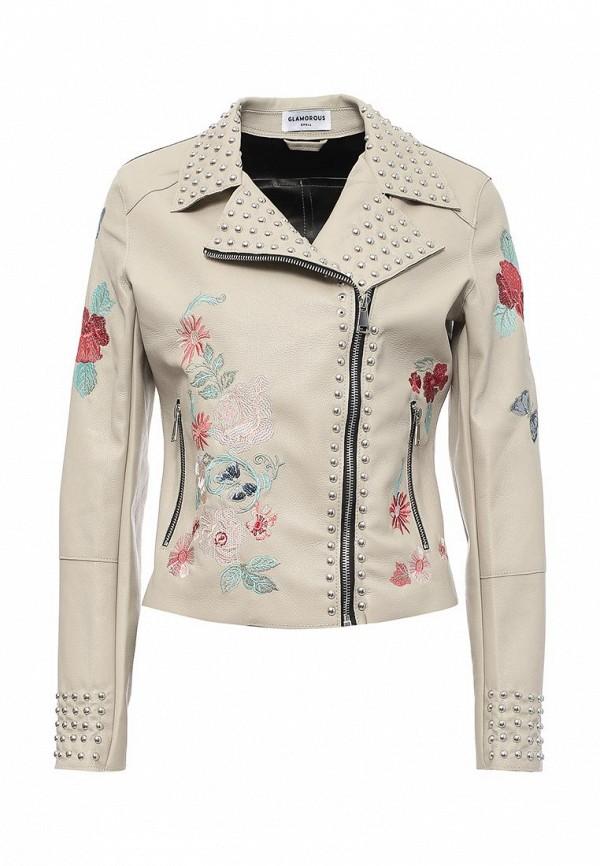 Куртка кожаная Glamorous Glamorous GL008EWQPK82 майка glamorous glamorous gl008ewqpk25