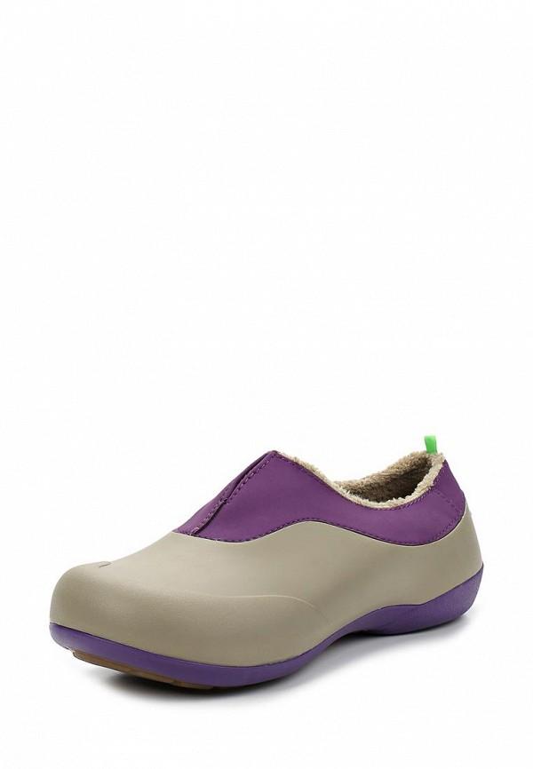Резиновые ботинки Gow. Цвет: серый, фиолетовый