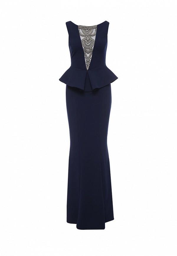 Купить женское вечернее платье Goddiva синего цвета