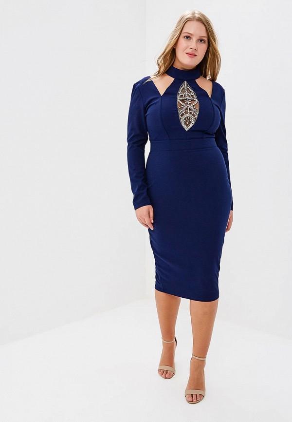 Платье Goddiva Size Plus Goddiva Size Plus GO015EWAVDG1 платье goddiva size plus goddiva size plus go015ewavbh8