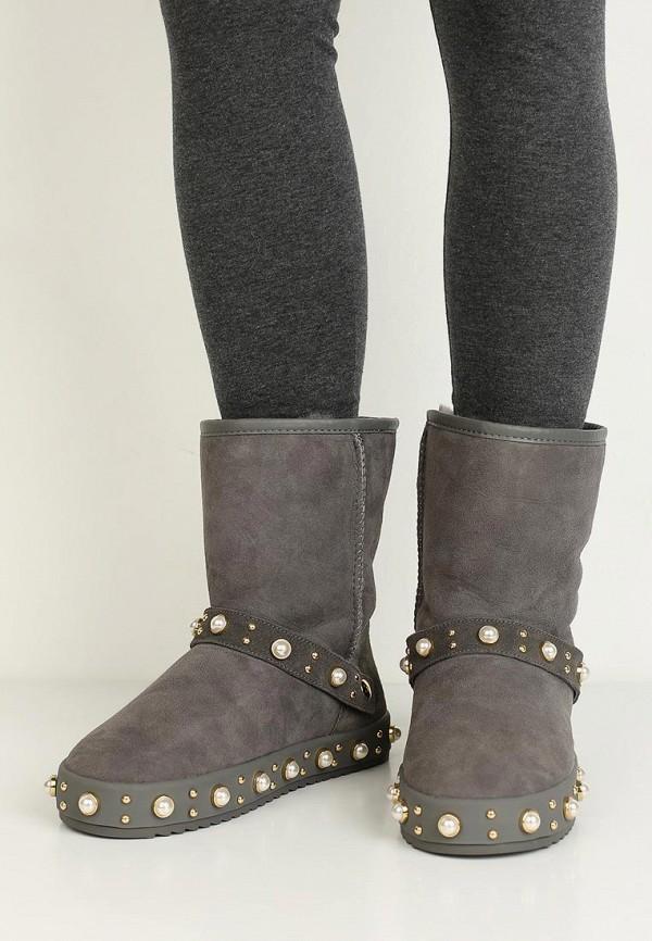 Фото 15 - Полусапоги Grand Style серого цвета