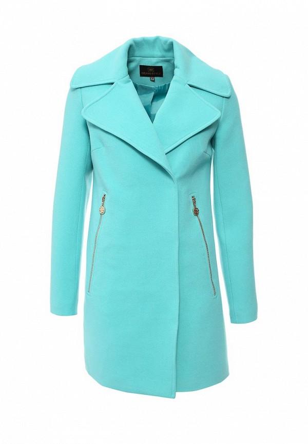Женское бирюзовое осеннее пальто