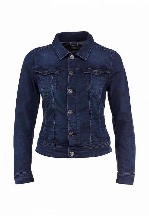 Куртка джинсовая G-Star GS001EWBEL76. Цвет: синий