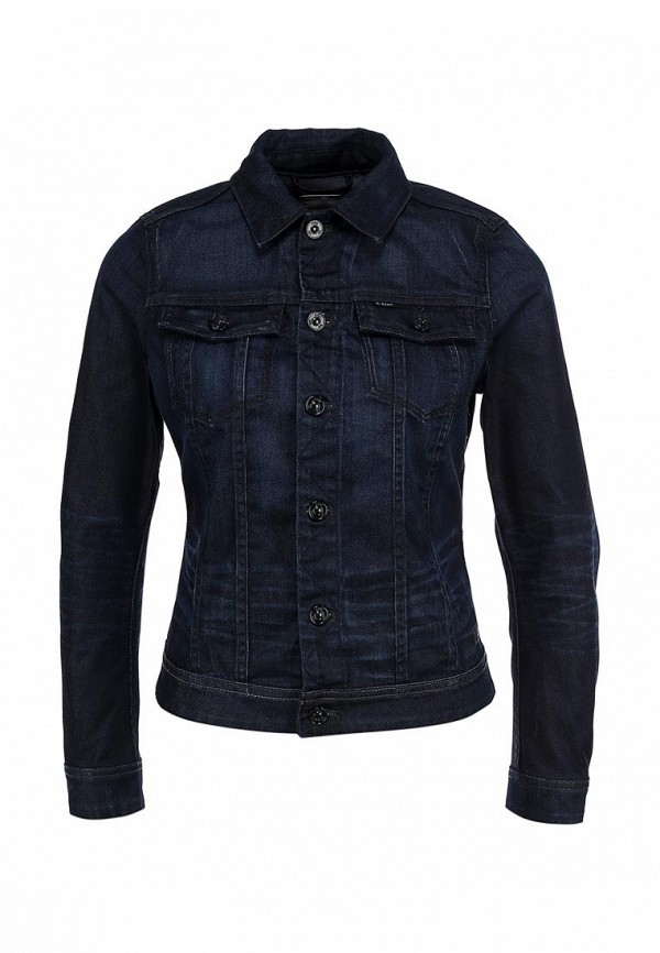 Куртка джинсовая G-Star GS001EWBMY82. Цвет: синий