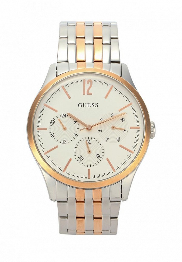 Часы Guess, W0995G3, GU460DMZJC35, серебряный, Весна-лето 2018  - купить со скидкой