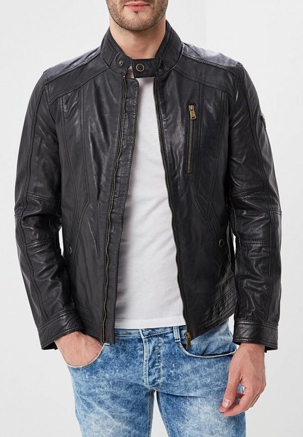 4af6f9e3c6e53d Куртка кожаная Guess Jeans черный артикул M82L09 L0IL0 купить за ...