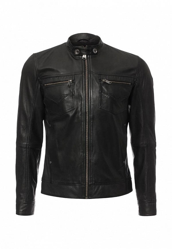 Кожаная куртка Guess Jeans M62L15 L0GG0