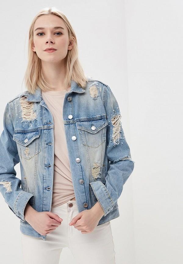 Куртка джинсовая Guess Jeans цвет голубой сезон весна, демисезон, лето страна Турция размер 40, 42
