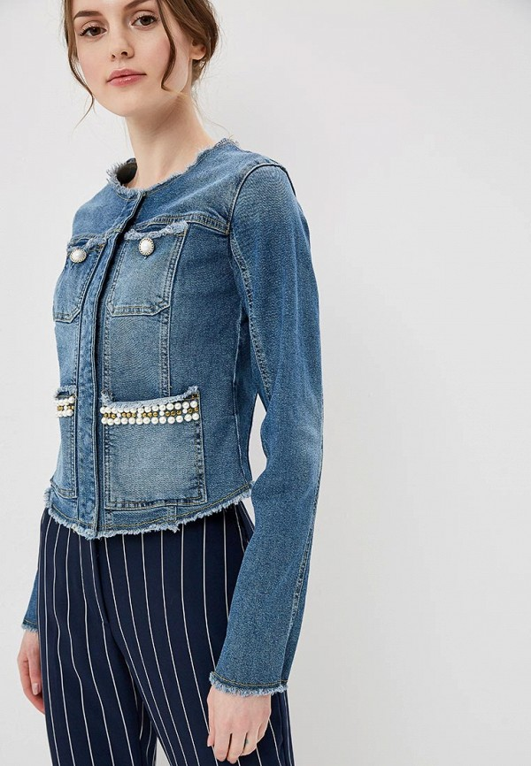 Куртка джинсовая Guess Jeans Guess Jeans GU644EWZTZ59 куртка кожаная guess jeans guess jeans gu644ewvzj75