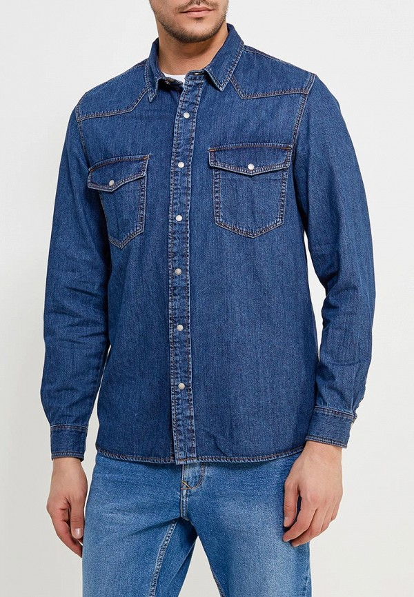 Рубашка джинсовая Mango Man Mango Man HE002EMAFHX7 рубашка mango man mango man he002emafhb4
