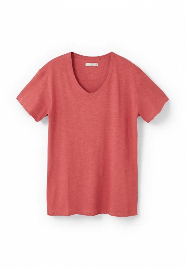 Мужская оранжевая коралловая футболка