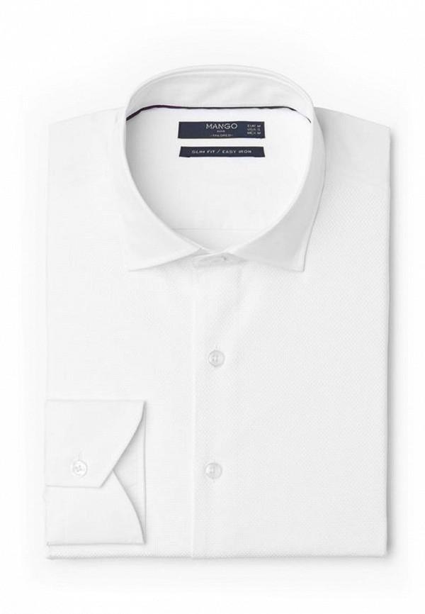 Купить мужскую рубашку Mango Man белого цвета