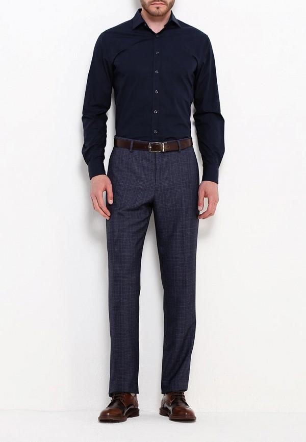 Фото 2 - мужские брюки Mango Man синего цвета