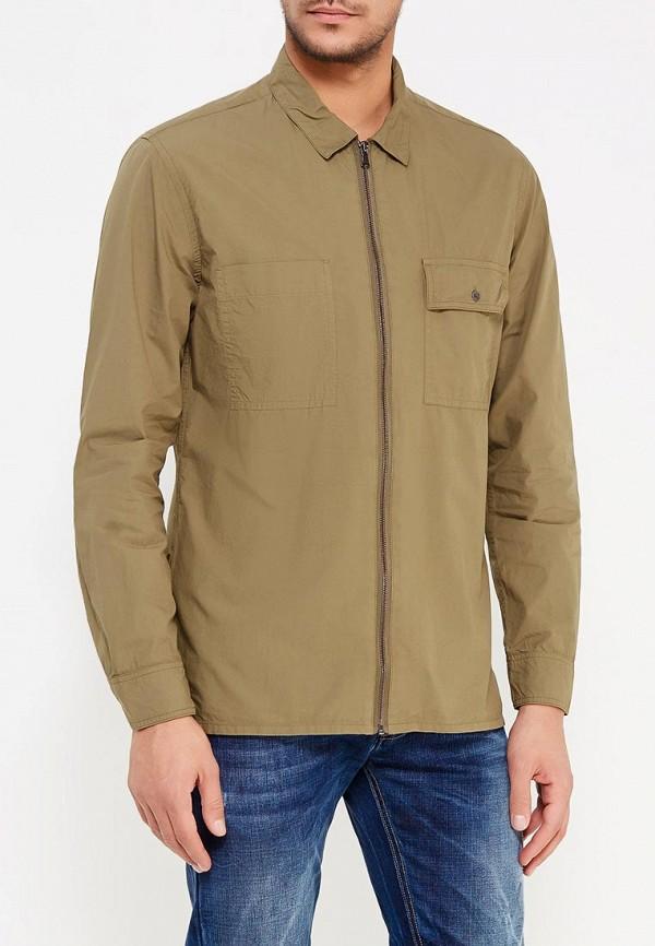Фото - мужскую рубашку Mango Man цвета хаки