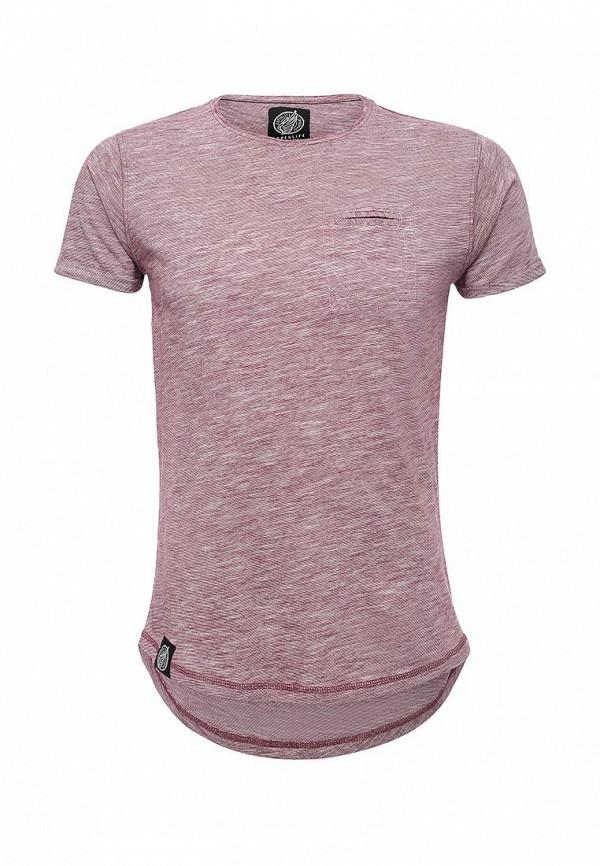 Купить мужскую футболку Hopenlife бордового цвета