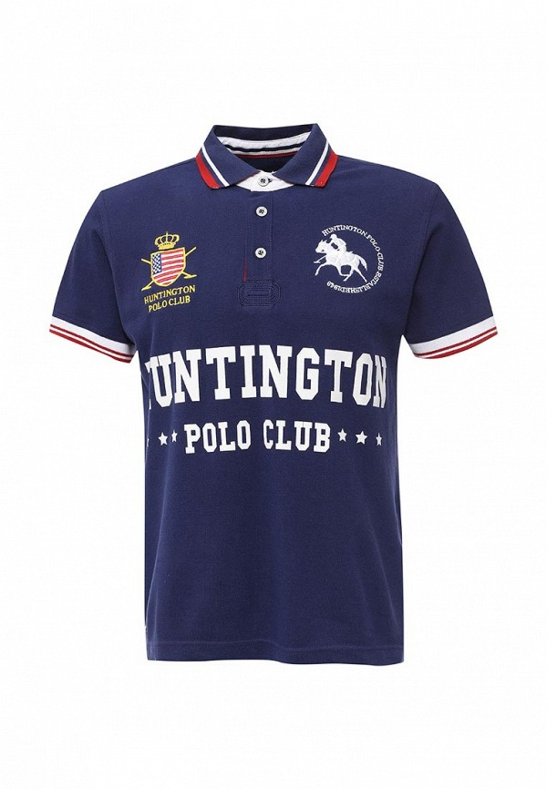 Мужские поло Huntington Polo Club ADAM_505001_PATRIOTBLUE
