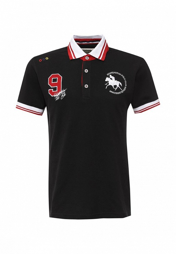 Мужские поло Huntington Polo Club GOTHARD_505004_JETBLACK