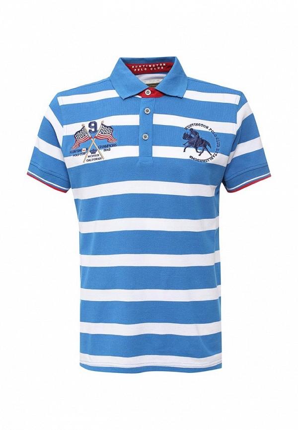 Поло Huntington Polo Club KELVIN_505005_DIRECTOIREBLUE-BRIGHTWHITE