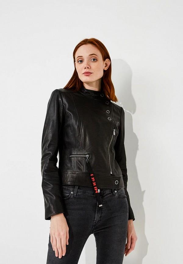 Купить Куртка кожаная Hugo Hugo Boss, HU286EWBHPD9, черный, Осень-зима 2018/2019