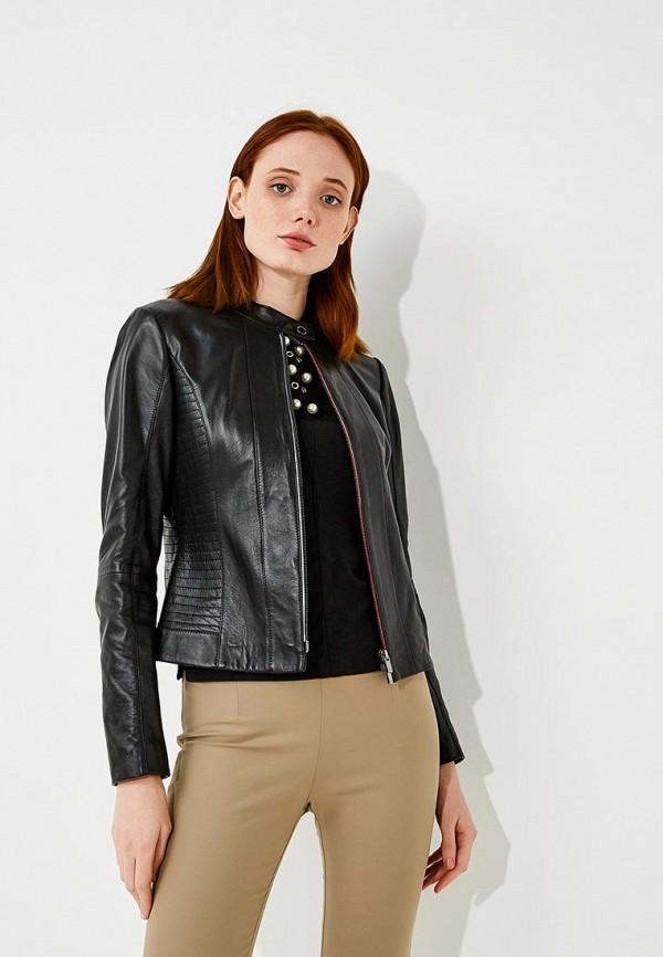 Купить Куртка кожаная Hugo Hugo Boss, HU286EWBHPE0, черный, Осень-зима 2018/2019