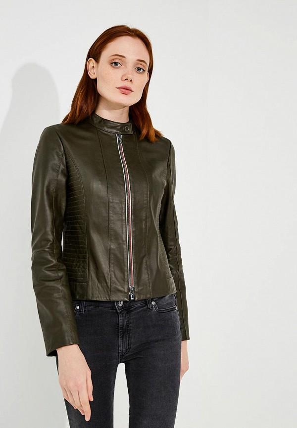Купить Куртка кожаная Hugo Hugo Boss, HU286EWBHPE1, коричневый, Осень-зима 2018/2019