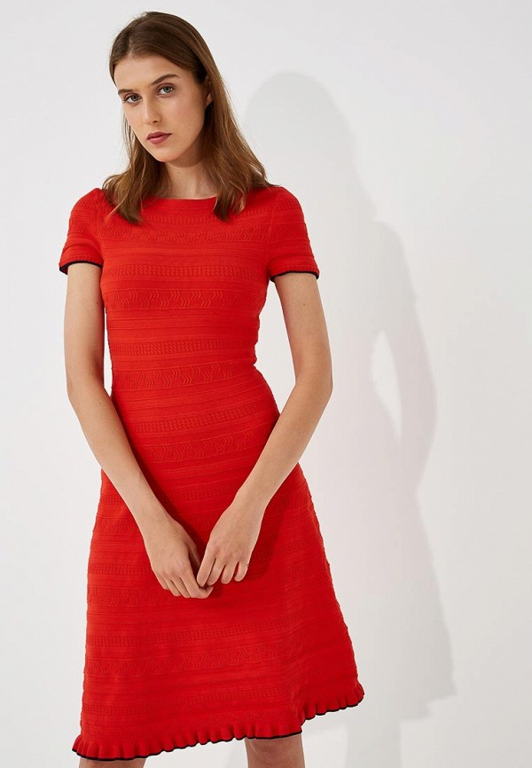 Купить Платье Hugo Hugo Boss, HU286EWBHPF0, красный, Осень-зима 2018/2019
