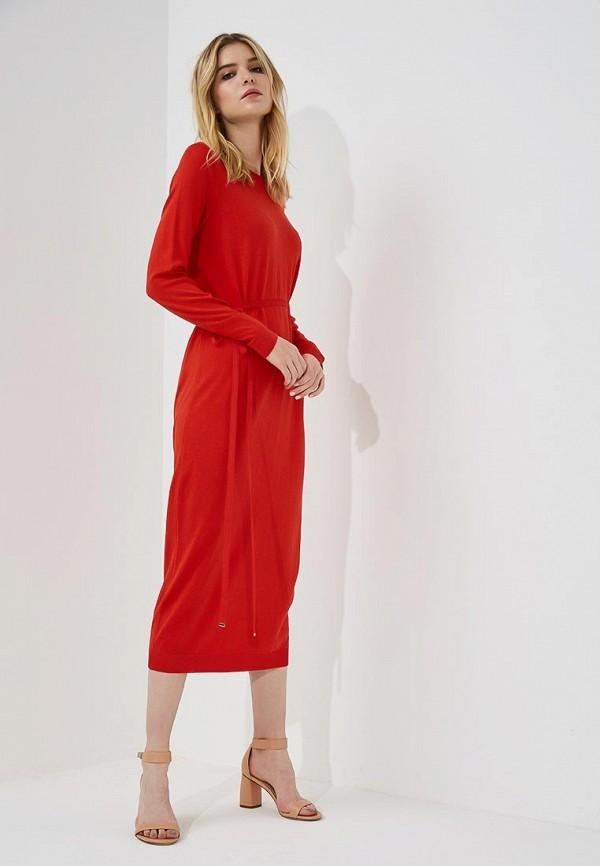 Купить Платье Hugo Hugo Boss, HU286EWBHPF2, красный, Осень-зима 2018/2019