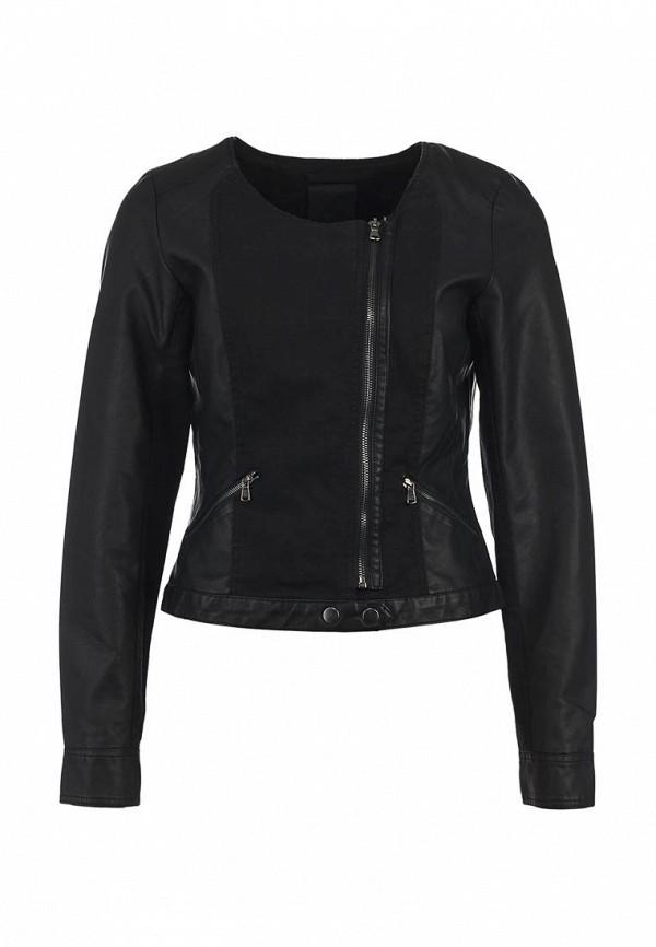 Куртка кожаная Ichi IC314EWAQV60. Цвет: черный