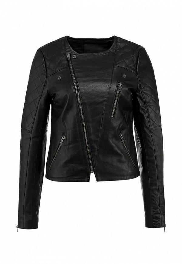 Куртка кожаная Ichi IC314EWCOI27. Цвет: черный
