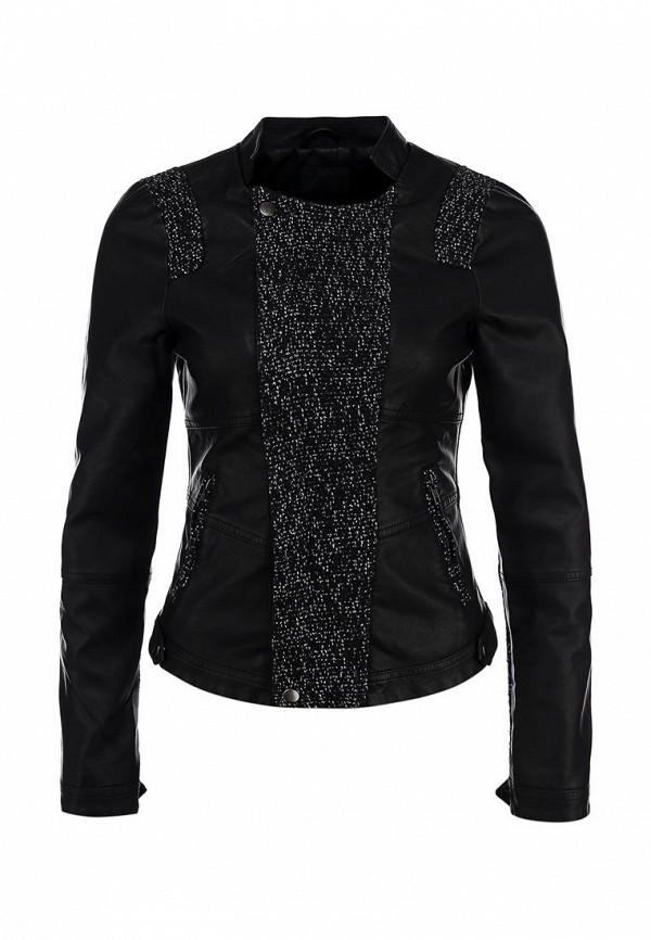 Куртка кожаная Ichi IC314EWCOJ25. Цвет: черный