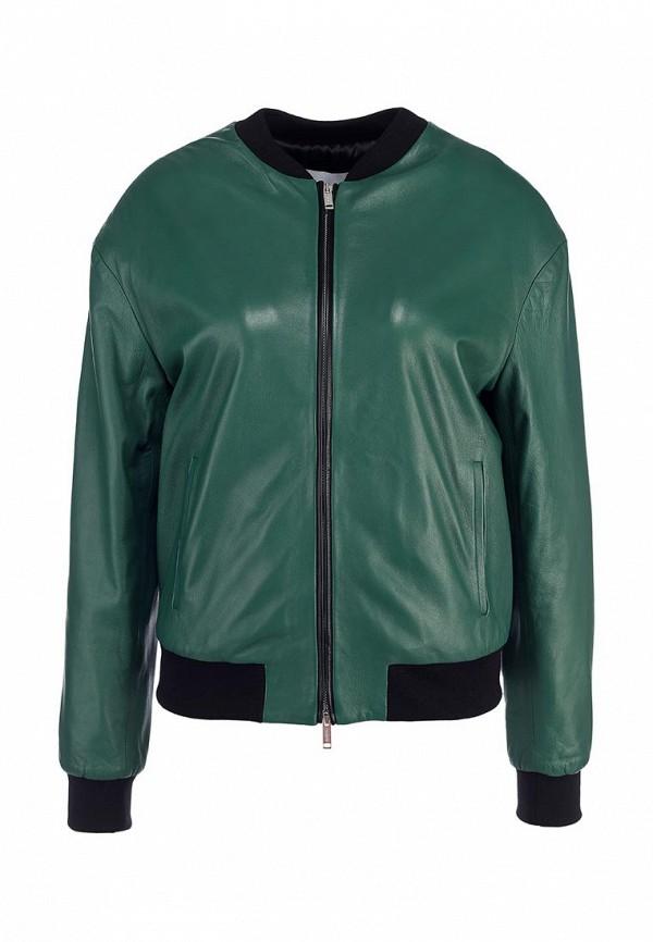 Куртка кожаная Iceberg IC461EWDEV56. Цвет: зеленый