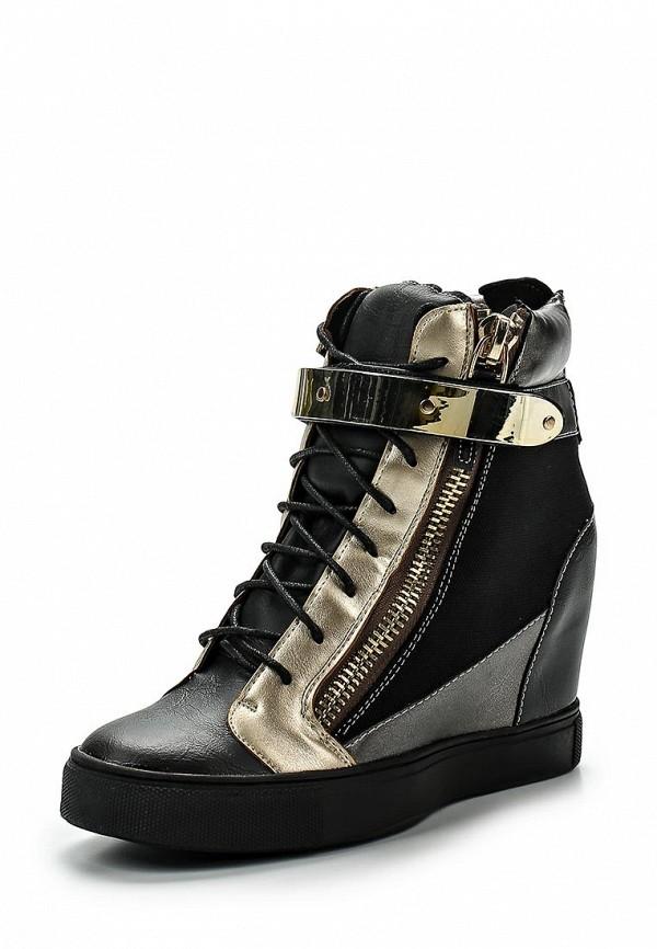 Кеды на танкетке Ideal Shoes Ideal Shoes ID005AWFXV54 кеды ideal shoes ideal shoes id005awsbf41