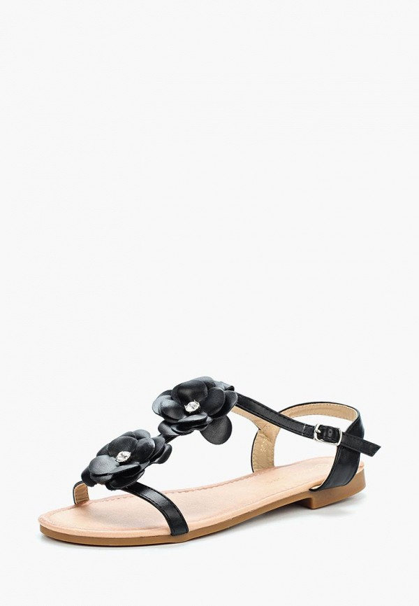 Фото - женские сандали Ideal Shoes черного цвета