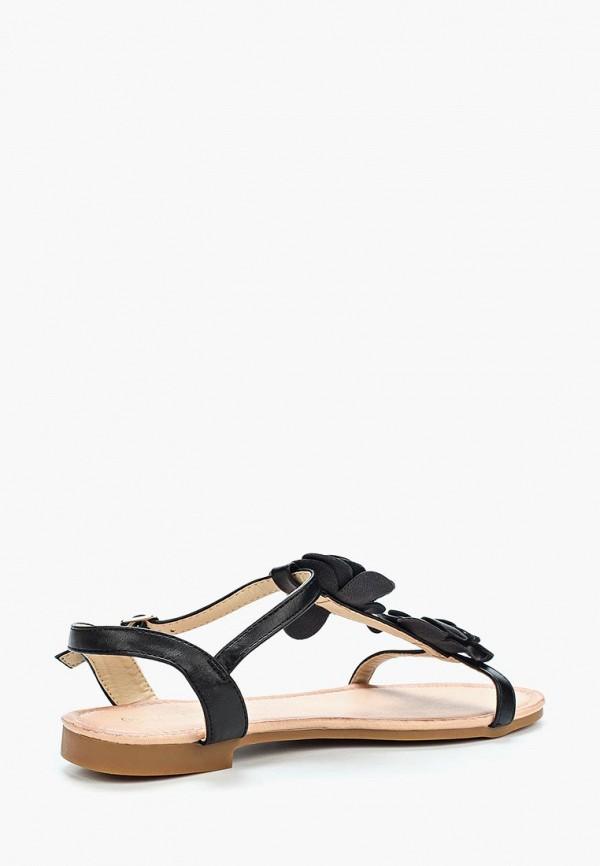 Фото 2 - женские сандали Ideal Shoes черного цвета