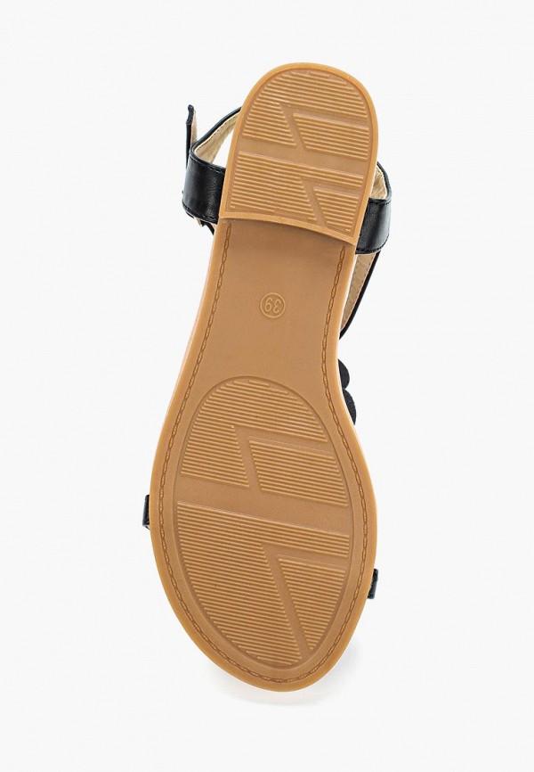 Фото 3 - женские сандали Ideal Shoes черного цвета