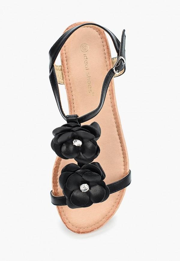 Фото 4 - женские сандали Ideal Shoes черного цвета