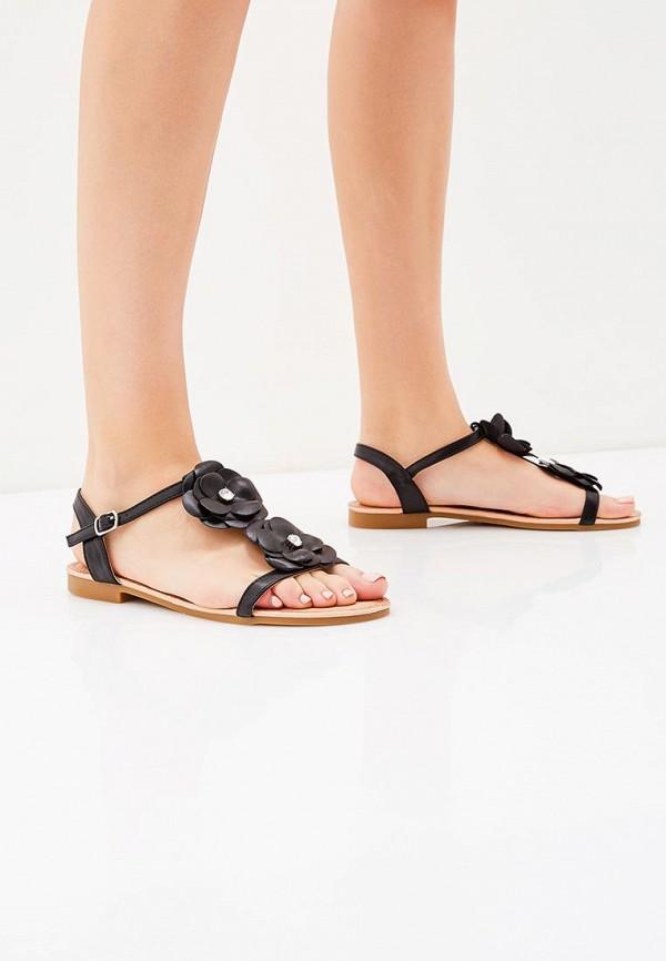 Фото 5 - женские сандали Ideal Shoes черного цвета